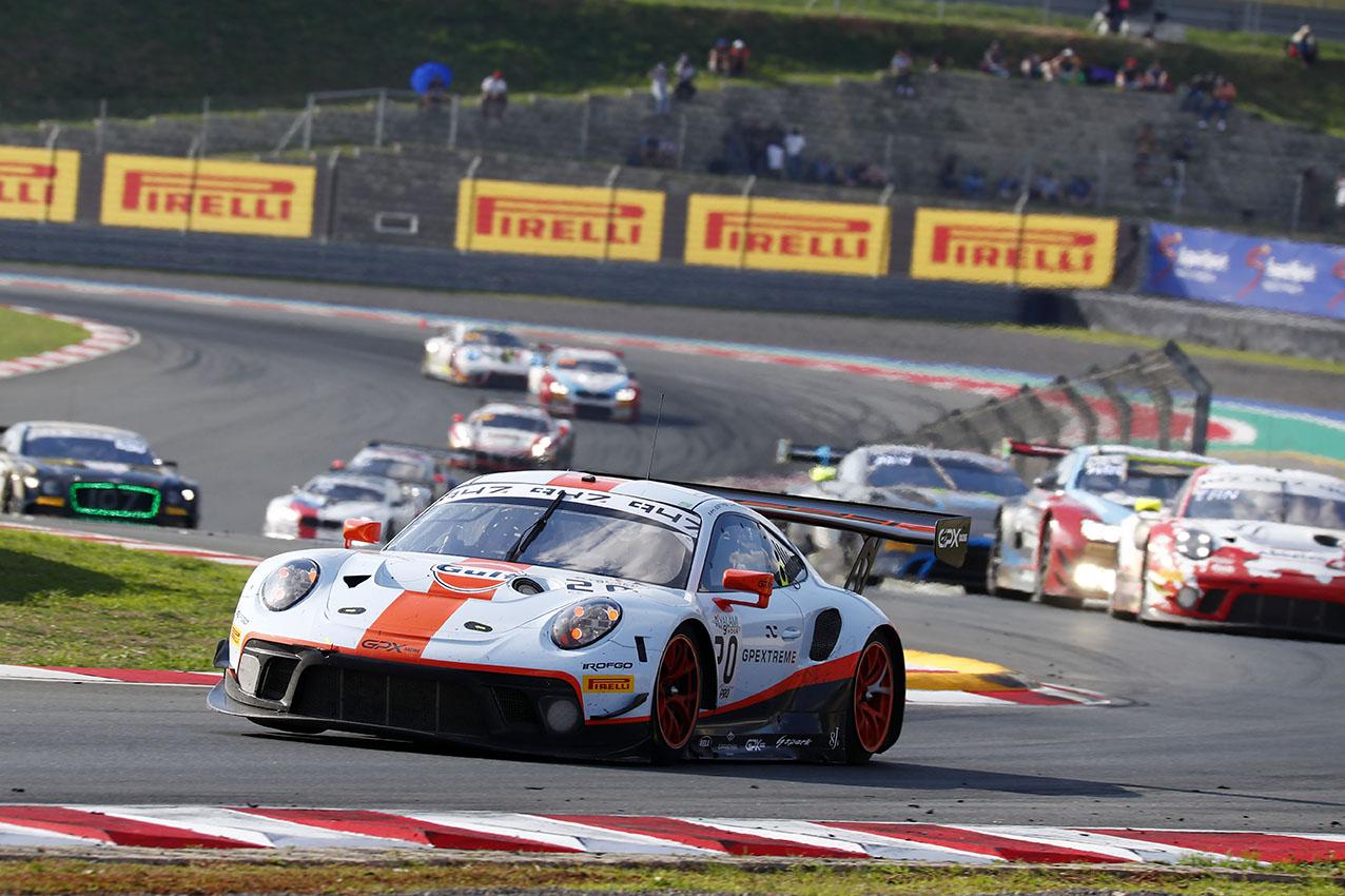Porsche 911 GT3 R, GPX Racing (20), Kevin Estre (F), Michael Christensen (DK), Richard Lietz (A)